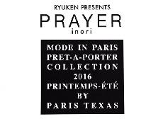 "RYUKEN PRESENTS『PRAYER』""inori"" MODE IN PARIS MILANO PRET-A-PORTRER COLLECTION 2016"